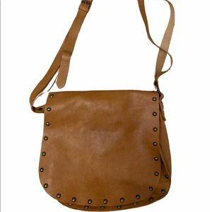 Maurizo Tatuti Leather Boho Large Saddle Bag
